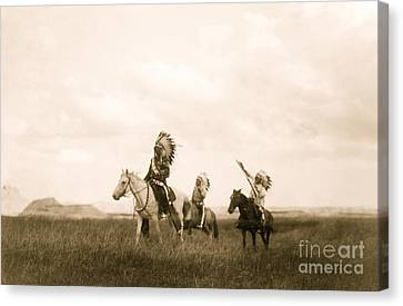The March Of The Sioux Canvas Print