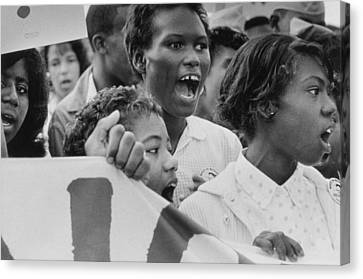 Unrest Canvas Print - The March On Washington   A Group From Detroit by Nat Herz