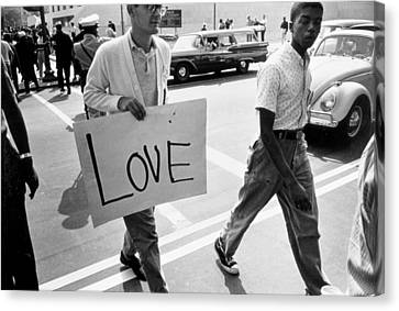 The March On Washington   Love Canvas Print