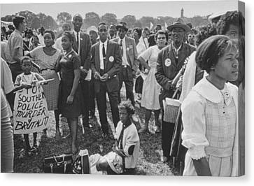 The March On Washington  Washington Monument Grounds Canvas Print by Nat Herz