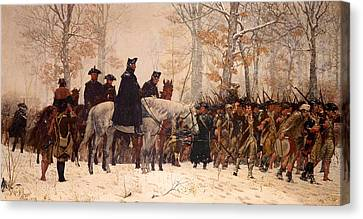 Artwork On Canvas Print - The March To Valley Forge by Mountain Dreams