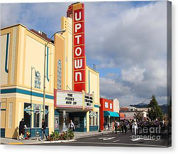 The Marching Band At The Uptown Theater In Napa California . 7d8922 Canvas Print by Wingsdomain Art and Photography