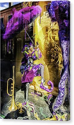 The Mardi Gras Jester Canvas Print