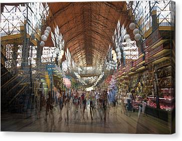 Canvas Print featuring the photograph The Market Hall by Alex Lapidus