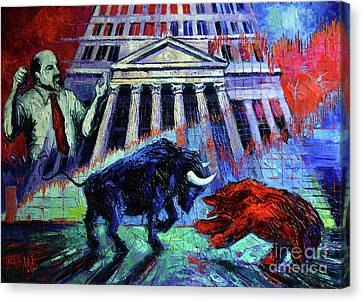 Abstract Composition Canvas Print - The Market by Mona Edulesco