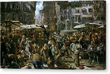 The Market Of Verona Canvas Print
