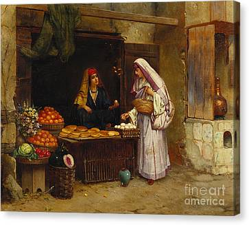 Grocery Store Canvas Print - The Market Stall by Rudolphe Ernst