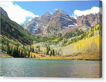 The Maroon Bells 1 Canvas Print by Eric Glaser