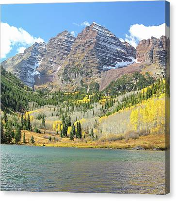 The Maroon Bells 2 Canvas Print by Eric Glaser