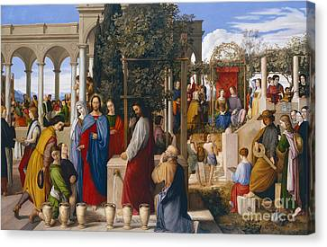 The Marriage At Cana Canvas Print by Julius Schnorr von Carolsfeld