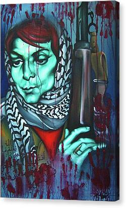The Marriage Of Leila Khaled Canvas Print by Khalid Hussein