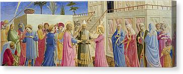 The Marriage Of The Virgin Canvas Print by Fra Angelico