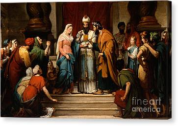 The Marriage Of The Virgin Canvas Print by Jerome Martin Langlois