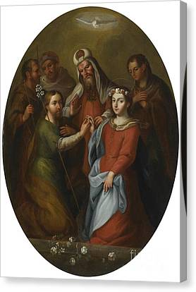 The Marriage Of The Virgin Canvas Print by Celestial Images