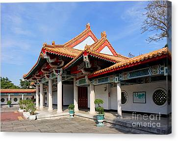 Canvas Print featuring the photograph The Martyr Shrine In Kaohsiung City by Yali Shi