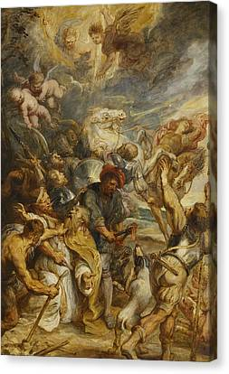 The Martyrdom Of Saint Livinus Canvas Print by Peter Paul Rubens