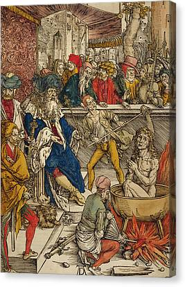 The Martyrdom Of St John Canvas Print by Albrecht Durer or Duerer