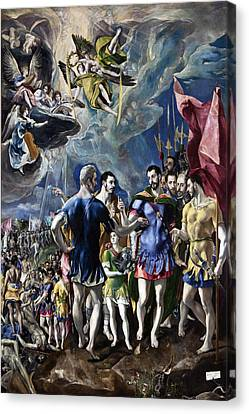 The Martyrdom Of St Maurice Canvas Print by El Greco