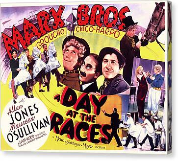 The Marx Bros - A Day At The Races 1937 Canvas Print by Mountain Dreams