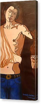 The Mask Man Canvas Print by Erminia Schirru