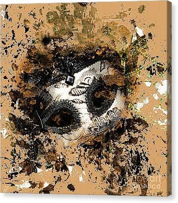 Canvas Print featuring the photograph The Mask Of Fiction by LemonArt Photography