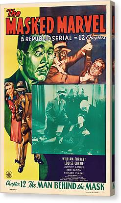 The Masked Marvel 1943 Canvas Print by Mountain Dreams