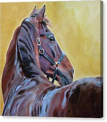 Bay Horse Canvas Print - The Masters by Anne West