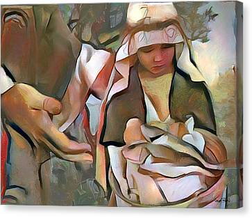 The Master's Hands - Provider Canvas Print by Wayne Pascall