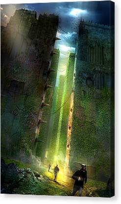 Books Canvas Print - The Maze Runner by Philip Straub