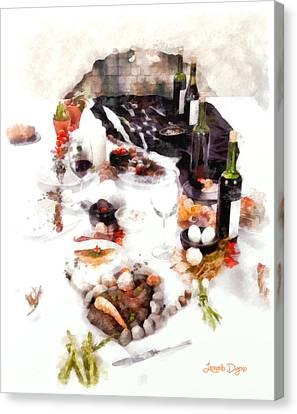 Snack Canvas Print - The Meal - Da by Leonardo Digenio