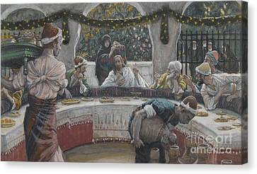 The Meal In The House Of The Pharisee Canvas Print by Tissot