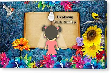 The Meaning Of Life Art Canvas Print by Marvin Blaine