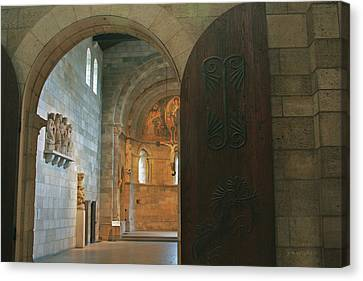 An Early Morning At The Medieval Abbey Canvas Print