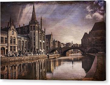 The Medieval Old Town Of Ghent  Canvas Print