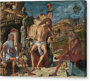 Canvas Print featuring the painting The Meditation On The Passion by Vittore Carpaccio