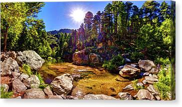 Oak Creek Canvas Print - The Meditation Pond by ABeautifulSky Photography by Bill Caldwell
