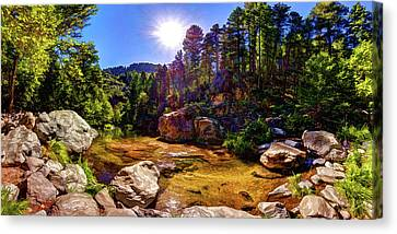 The Meditation Pond Canvas Print by ABeautifulSky Photography