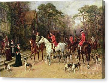 The Meet At The Manor House Canvas Print