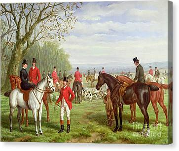 The Meet Canvas Print by Edward Benjamin Herberte