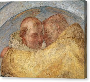 The Meeting Of St Francis And St Dominic  Canvas Print