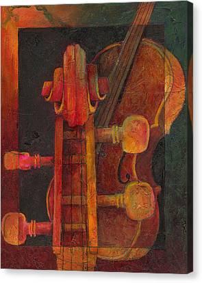The Mellow Cello Canvas Print by Susanne Clark