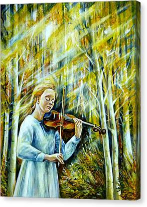 The Melody Of Autumn Canvas Print by Anna Duyunova