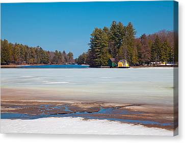 The Melting Of Old Forge Pond Canvas Print by David Patterson