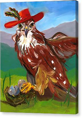 Canvas Print featuring the painting The Merlin by Susan Thomas