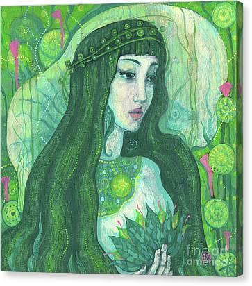 Inner Self Canvas Print - The Mermaid, Acrylic Painting, Fantasy Art by Julia Khoroshikh