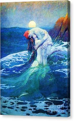 The Mermaid Canvas Print