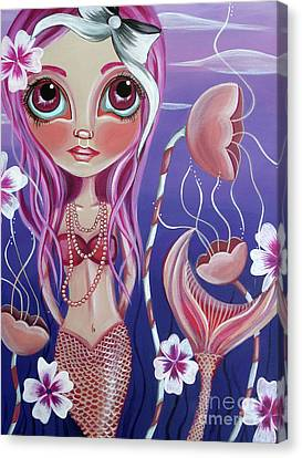 Flower Pink Fairy Child Canvas Print - The Mermaid's Garden by Jaz Higgins