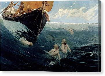 The Mermaid's Rock Canvas Print by Edward Matthew Hale