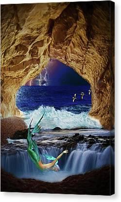 The Mermaids Secret Lair Canvas Print