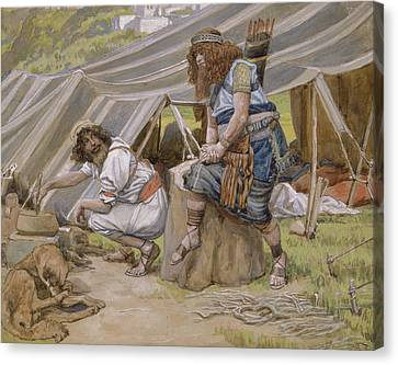 The Mess Of Pottage Canvas Print by James Tissot